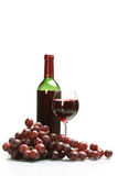 Bottle and glass of wine Stock Image