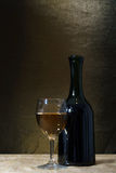 Bottle and glass of wine Royalty Free Stock Photo