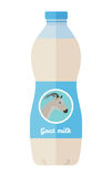 Bottle of Goat Milk Flat Style Vector Illustration Stock Photography