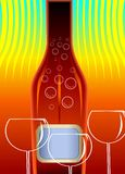 Bottle and goblet of wine Royalty Free Stock Photo