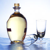 Bottle and goblets. Bottle with wine and two goblets Royalty Free Stock Photo