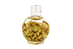 Bottle of Gold Royalty Free Stock Image