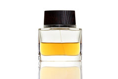 Bottle of gold perfume Stock Photography