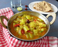 Bottle gourd and tomato curry. A spicy and delicious side dish made with bottle gourd and tomato curry Royalty Free Stock Photography
