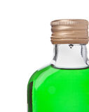 Bottle with green alcohol Stock Photo