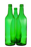 Bottle from green glass. On white background Stock Image