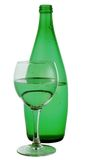 Bottle from green glass Royalty Free Stock Images