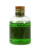 Bottle of green liquid Royalty Free Stock Photo