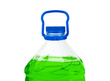 Bottle with green liquid Royalty Free Stock Image