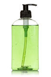 Bottle with green  liquid soap Royalty Free Stock Photography