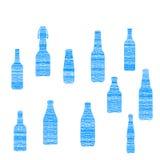Bottle grunge set Royalty Free Stock Photo