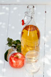 Bottle of healthy freshly squeezed apple juice Royalty Free Stock Images