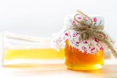Bottle of honey Royalty Free Stock Image