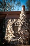 Bottle House made of stone and bottles stock photography