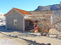The Bottle House in Nevada USA. The Bottle House is the only building not lying in ruins in the ghost town of Rhyolite in Nevada USA Royalty Free Stock Photography