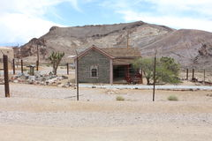 Bottle house in Rhyolite. Historic bottle house in the ghost town Rhyolite Royalty Free Stock Photos