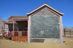 Bottle House in Rhyolite, Nevada, USA. Stock Photography