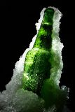 Bottle in ice Royalty Free Stock Photo