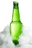 Bottle in ice Stock Photo
