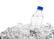 Bottle in ice Royalty Free Stock Photos