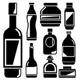 Bottle icons Stock Photos