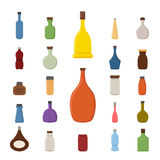 Bottle icons Stock Image