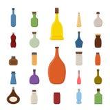 Bottle icons Stock Image