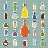 Bottle icons Royalty Free Stock Photo