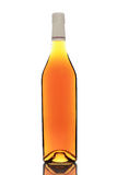 Bottle isolated on white. Bottle of wine, cognac with no labels, isolated on white background Royalty Free Stock Photos