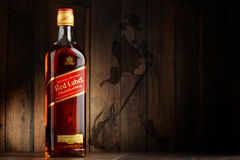 Bottle of Johnnie Walker Scotch whisky Royalty Free Stock Photos