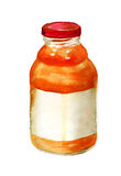 Bottle of juice Stock Photography