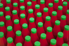Bottle of ketchup Stock Image