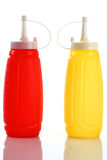 bottle ketchup and mustard Royalty Free Stock Photos