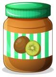 A bottle of kiwi jam Royalty Free Stock Photo