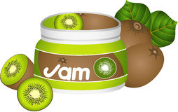 Bottle Kiwi Jam Royalty Free Stock Images