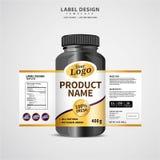 Bottle label, Package template design, Label design, mock up design label template. Bottle label, Package template design, mock up design label template stock illustration