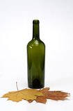 Bottle with leaves Stock Photo
