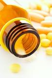 Bottle on lie tablets Stock Image