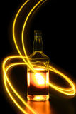 Bottle with light painting 3 Royalty Free Stock Image