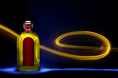Bottle with light painting 4 Stock Image