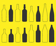 Bottle. Line Icon Design. Vector s silhouette illustration Royalty Free Stock Images