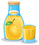 A bottle of mango juice Stock Photo