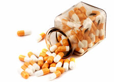 Bottle of medical pills Stock Images