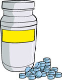 Bottle of medicinal pills Stock Image