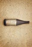 Bottle message 2015 Stock Image