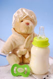 Bottle of milk for baby Stock Image