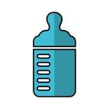 Bottle milk baby icon Stock Photo