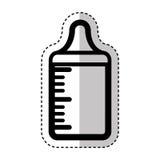 Bottle milk baby isolated icon Stock Photography