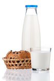 Bottle of milk Stock Photos