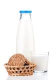 Bottle of milk Royalty Free Stock Photos